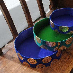 009BT Round Silk Hamper Trays