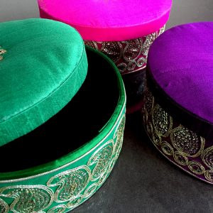 003BT Silk Round Embroidery Box
