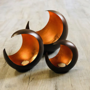 002TL Crescent Candle Holders