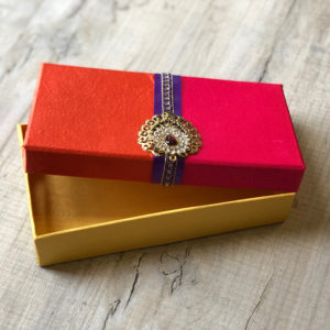 021BT Pink/Orange Silk Box