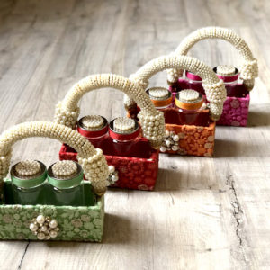 002G Mukhwas Tins & Pearl Basket
